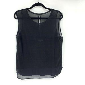 Madewell Blouse Black Linen Tank Top M